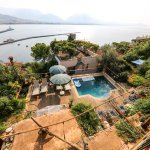 The view of the Boutique Hotels Pool and the bay of Alanya