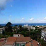 Viwer from 2nd floor roof terrace. In the distance Bay of Naples.