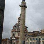 Mercati di Traiano - Museo dei Fori Imperiali - Trajan's Column near the Museo dei Fori Imperial