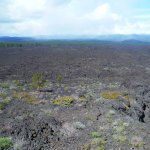 View of lava fields from the top of the butte