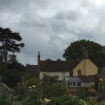 View of Parsonage from a sunny seat in the walled garden