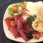 Saaser Platter (Air-cured meat, sliced cheese, Saas sausage, cured ham)