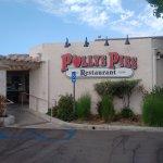 Exterior of Polly's Pies restaurant in Santa Ana, CA