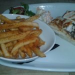 Titanic wrap and spiced potato wedges