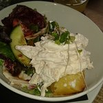 Baked potato with chicken mayonnaise
