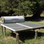 The solar panel, that provides the amenties with warm water...