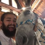 Max our son Donkey selfie