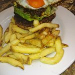 Rancheros Bean burger, succulent, tasty perfect burger