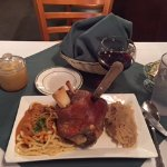 Pork Shank with Spaetzle and Sauerkraut