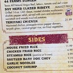 You can substitute the fried rice for just $2 or $3 to replace regular rice