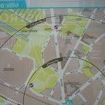 Plan du quartier et localisation des jardins