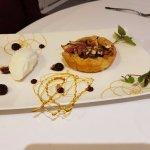 tarte aux figues et sorbet au au lait d'amande