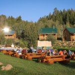 Chuck wagon dinner outside the Lodge/dining room
