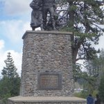 Donner Memorial - short distance from the visitor's centre. Pedestal is the depth of snow that y