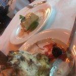 Mackinac Island, The Woods Restaurant, Doughnut & Salted Carmel Cheesecake