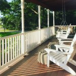 Front porch patio - perfect for sipping coffee or tasting wine