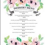 new dessert menu from 13/09/2017
