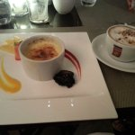 Creme brulee and capuccino. Great ending to a great dinner.