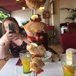 Chicken brochettes were amazing whilst my friend had the carbonara