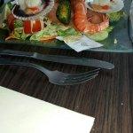 salade saumon fumé, saint jacques, gambas et moules farcies