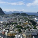 View from the 418 steps in Alesund
