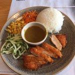 A mini chicken katsu curry.