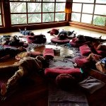 Retreat activities in the beautiful yoga studio on top of the Lotus House.