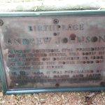 Andrew Johnson birthplace marker