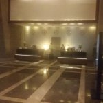 The Hotels Main Entrance Lobby and Reception Desk.