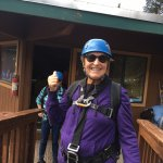 Thumbs up for a fun zip line adventure!