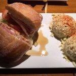 Malibu Chicken Burger with Potato Salad