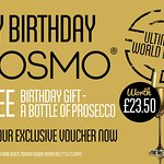 If it's your birthday - Have a FREE Bottle of Prosecco on us worth £23.50 - Download Voucher