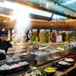 Live Cooking at the Seafodd Noodle Bar - You pick the ingredients, we cook it the way you like i