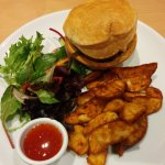 Pie of the Day - Chicken teriyaki with wedges and salad