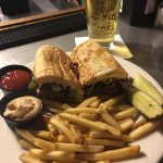Philly Cheesesteak and a cold beer!