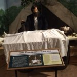 Shows the embalming process in the field.