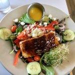 Farm to table salmon salad