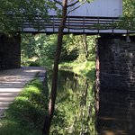 Covered Bridge along the C&O canal in park