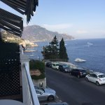 View of the ocean and Amalfi