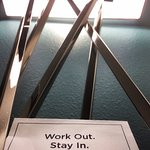 Nice touch!  I enjoyed the fitness center, although the Elliptical wasn't working. I was able to