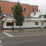 The Spot restaurant from across the street!