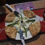 The fabulous tzatziki and pita bread.