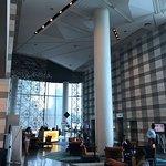 High-ceilinged lobby