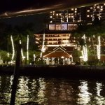 Hotel from the river at night