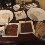 The venison and chicken curries. Nann bread and rice were cooked beautifully