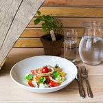 Seasonal salads using local ingredients and produce from our historic gardens