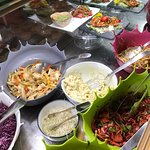 parte del buffet, insalate e germogli