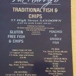 Fish & Chips at Fat Harrys in Sandown..