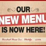 Come and try our NEW Autumn 2017 menu