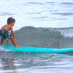 3 years old and already surfing...